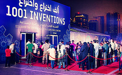 Record Audiences for 1001 Inventions Show in Doha (MuslimHeritage.com) Tags: news art history education technology events muslim culture engineering science literature environment mathematics medicine law goldenage inventions geography agriculture scholars economy civilisation scientist islamic discoveries curriculum manuscripts artofliving muslimheritage 1001inventions musicscience ce4tf