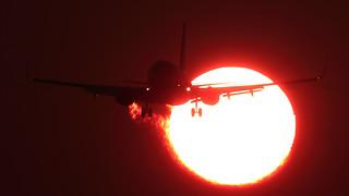 KLM 737 at sunset at EHAM Schiphol [Explore]