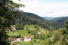 Before hiking. (Lyndsay Shearer) Tags: trees houses summer house black mountains green forest germany deutschland high europe view hills lyndsay schwarzwald blackforest shearer badenwrttemberg freudenstadt lyndsayshearer