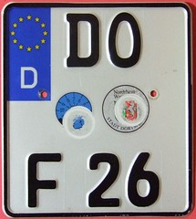 GERMANY, DORTMUND 2014--- SMALLER NEW STYLE MOTORCYCLE LICENSE PLATE (woody1778a) Tags: world auto canada cars car bike sign vintage germany deutschland edmonton photos tag woody plate tags licenseplate collection number photographs license motorcycle plates foreign dortmund numberplate licenseplates numberplates licenses cartag carplate carplates autotags cartags autotag foreigns pl8s worldplates worldplate foreignplates platetag