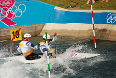 (jeffrouk) Tags: london canoe valley lee olympics c2 slalom 2012 stott london2012 baillie teamgb canoeslalom timbaillie etiennestott leevalleywhitewatercentre