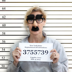 D is for Disguise (YetAnotherLisa) Tags: portrait selfportrait glasses moustache disguise mugshot