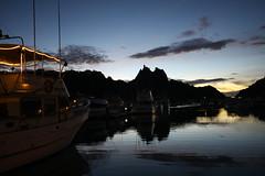 (eflon) Tags: reflection water skyline sonora clouds marina mexico boats dusk mx sancarlos sooc