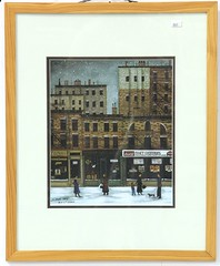 67. NYC Folk Art Print after Janet Munro