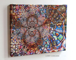 LARRY CARLSON, Stone Wall Trip, canvas print, 2010.