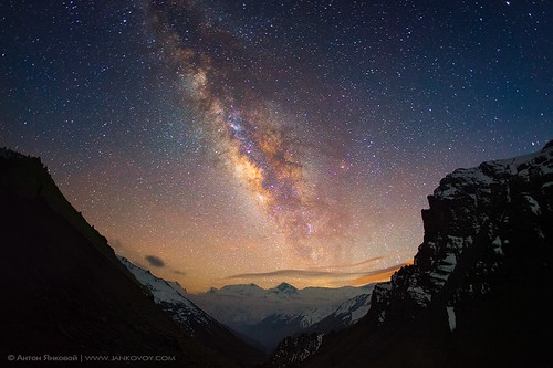 Milky Way above the Himalayas