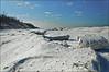 Frozen Shore (Tom Gill.) Tags: winter ice frozen indiana mtbaldy indianadunesnationallakeshore snowdunes laportecounty shelfice