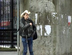Macadam Cowboy (knightbefore_99) Tags: city hat station vancouver corner cowboy bc candid grandview skytrain commercialdrive macadam thedrive