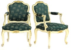 86. Pair of Louis XV Style Fauteuils