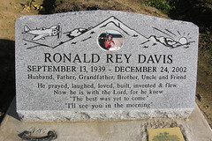 Ronald Rey Davis (Piemouth) Tags: california county cemetery grave graveyard ferry airplane stanislaus memorial headstone tombstone gravestone marker roberts waterford taphophilia