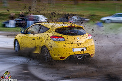 Vive le sport! (Ortroi Photo) Tags: sport yellow vive rally racing renault amarillo rs gravel drift megane handbrake cruzada