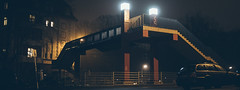 glow. (angsthase.) Tags: bridge winter light people rain fog night germany deutschland licht shadows nacht streetlife westpark nrw dailylife brcke schatten ruhrgebiet dortmund ruhrpott mft 2013 micro43 lumixg20f17 epl5 olympuspenepl5