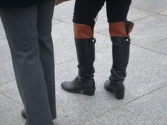 low heel over knee boots (長靴を愛でる者) Tags: black redbrown 黒 茜色 overkneeboots