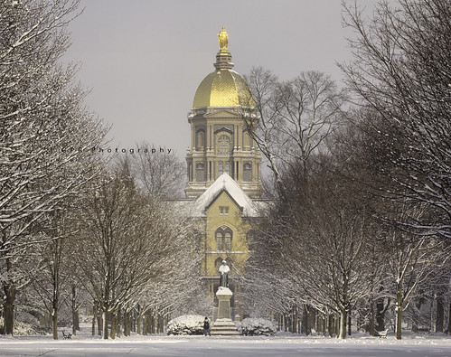 Golden Dome in the winter
