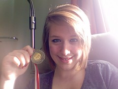 GOLD!!!! :D (Rachel Dawson Photography) Tags: portrait me smile basketball gold photobooth medal pcss win selfie yukonchampionships