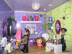 mini salon 103 (Art Shot - Not) Tags: cute art hair fun miniature purple creative hairsalon salon troll bichon nailpolish discoball groovy dollhouse bubblechair agminis illuma illumaroom