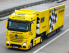 Mercedes Actros new look BD62 EJY (gylesnikki) Tags: yellow truck artic mp4 motorsport dunlop