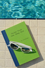 poolside reading (Laurarama) Tags: colors pool sunglasses book sunny poolside nikond7000 nikkor50mm18g odcalphabet