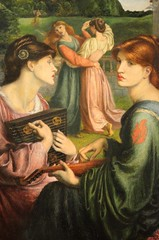 The Bower Meadow (-1872) (bodythongs) Tags: uk england art english gabriel museum painting manchester nikon women gallery dante fine arts meadow musée peinture collection gb angleterre bower preraphaelite rossetti beaux d5100 bodythongs
