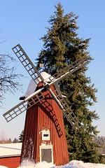 Windmill (Fintrvlr) Tags: winter snow windmill suomi finland kirkkonummi tuulimylly oldwindmill gesterby museumarea canoneos1100d