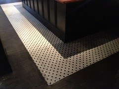 """The Place"" Boston MA / Mosaic Tile , MatsInc Underflor dBR & Floorworks LVT"
