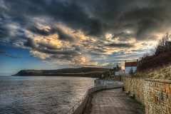 Robin Hood's Bay (inreflection) Tags: blue sea sky seascape beach nature clouds bay seaside fishing nikon nef sigma seawall northsea northyorkshire cottages robinhoodsbay sigma1224 d600 nikoncapture nikondslr lostintime fishermanshuts nikond600 sigma1224f4556mkiidghsm