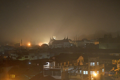Bukit Tinggi town at night