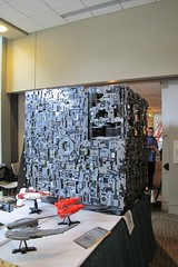 Borg Cube On Screen (Denis Ryan) Tags: startrek lego borg nextgeneration eccc emeraldcitycomiccon borgcube emeraldcitycon uploaded:by=flickrmobile flickriosapp:filter=nofilter eccc13