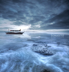 A Postcard From Heaven (Tomasito.!) Tags: longexposure reflection rock clouds boat nikon asia heaven philippines cyan surreal clue touristspot pagudpud tomasito ilocosnorte d90 beautifulplace jtnoriega