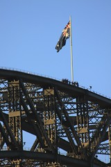 BridgeClimb (oxfordblues84) Tags: bridge flag au sydney australia nsw newsouthwales sydneyharbourbridge bridgeclimb australianflag thecoathanger