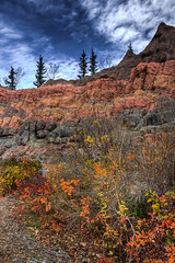 Lush Fall colors, we miss thee so (JoLoLog) Tags: autumn canada calgary fall colors zoo alberta hdr calgaryzoo lorien dinosaurpark canonxsi