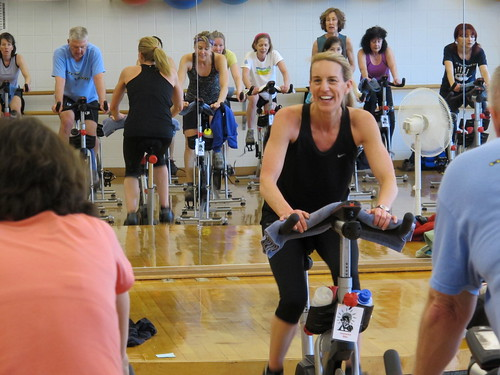 Photo - Spin class at the East Boulder Community Center