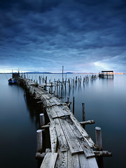 Ypsilon (CResende) Tags: wood seascape portugal broken pier sticks nikon y path lee setbal filters carrasqueira d800 1635 ypsilon alcacrdosal cresende