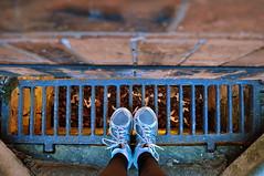 64.365 (charlottehbest) Tags: uk brick feet wall portraits grate bricks basement running trainers 365 day64 selfies project365 365days 2013 64365 charlottehbest 3652013