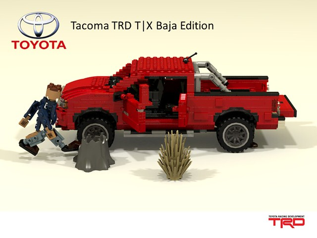 auto car model lego offroad render 4wd utility pickup racing ute toyota tacoma baja division edition awd compact cad povray trd moc ldd miniland t|x 2013 lego911