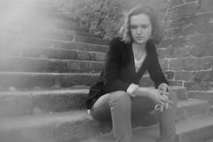 Portrait (Photographies sténopés, argentiques, numériques) Tags: street light shadow portrait blackandwhite bw woman france art blancoynegro girl monochrome beauty face silhouette lady contrast canon french photography europe photographie legs noiretblanc body head expression lumière femme creative bretagne nb breizh brest expressive corp rue français biancoenero jambes breton tête visage creatif finistere 550d portraitartistique canoneos550d tanguyfabienbrest fabientanguy