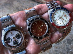 Rolex Driver, Diver & Flyer. (freddydynip) Tags: art canon paul hand watches pussy bond wrist daytona newman chronometer rolex chronograph galore 007 submariner gmt 6542 6239 65361 cosmograph