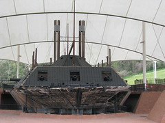 Gunboat USS Cairo on Display at the Vicksburg National Military Park (bluerim) Tags: mississippi civilwar vicksburg gunboat vicksburgnationalmilitarypark usscairo yazooriver pookturtle electronicmine