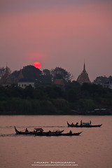 Let's work together! (Mardy Suong) Tags: sunrise river boats pagoda photo cambodia khmer player mekong mardy suong mardyphotography