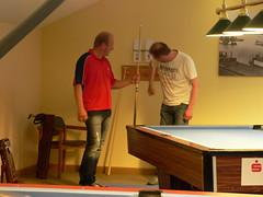 Hardy und Frank beim Fachsimpeln