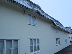 UK - Essex - Newport - Icicles on Thatched Cottage (JulesFoto) Tags: uk england newport essex icicles ramblers thatchedcottage metropolitanwalkers
