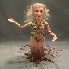 Mother Nature Bottle Art Doll (CreateMyWorldDesigns) Tags: autumn winter summer fall spring bottle clay fourseasons artdoll mothernature polymer aprilchallenge pcagoe