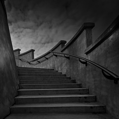 (Alan Drake) Tags: longexposure sky blackandwhite bw canada clouds stairs digital dark nikon exposure experimental britishcolumbia naturallight nd ndfilter d7000