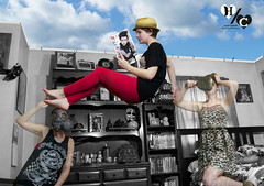 The Heaviest Baggage (Havoc Captures) Tags: art photomanipulation photoshop digitalart surreal floating levitation specialeffects