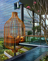 A Giant Bird Cage seen at the new Park Royal Hotel at Pickering...... (williamcho) Tags: architecture hotel singapore cage ©williamcho parkroyalatpickering