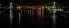 Tokyo Nightscape IV (Douguerreotype) Tags: bridge dark river water cityscape lights architecture city reflection night japan tokyo urban