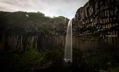 Svartifoss, Skaftafell, South Iceland (monsieur I) Tags: basalt europe iceland icelandic longshutterspeed monsieuri nature roadtrip skaftafell stones summer svartifoss travel water waterfall