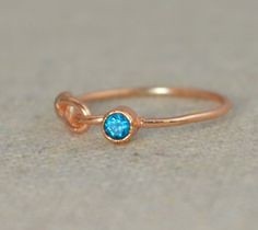 Rose Gold Filled Inf (alaridesign) Tags: rose gold filled infinity ring cz blue zircon decembers mothersbirthstone