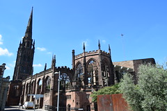 Coventry Cathedral, is made up of the old and the new buildings to form The Coventry Cathedral. (Anne & David (Use Albums)) Tags: coventrycathedral twoparts coventry suttonpark ladygodiva naked