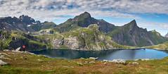 Tennesvatnet (PacotePacote) Tags: lago lake noruega norway lofoten moskenes munkebu montaa mountain panorama landscape tennesvatnet norge